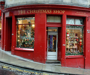 christmas, winter, and shop image