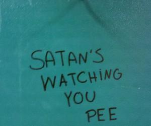 satan, pee, and grunge image
