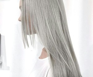 hair, grey, and gray image