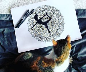 art, cat, and funny image