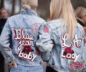 jeans, denim, and girls image