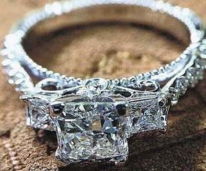 diamond, ring, and fashion image