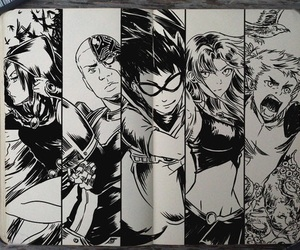 teen titans, cyborg, and raven image