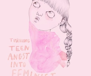 feminism, pink, and quote image