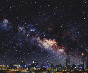 city, lights, and stars image