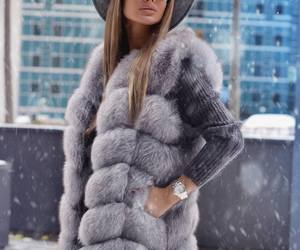 fashion, winter, and grey image