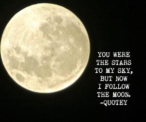 moon, night sky, and poem image
