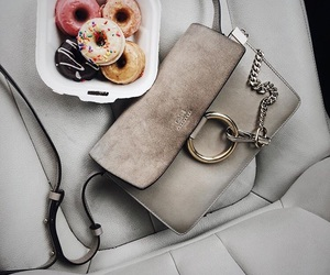 donuts, bag, and fashion image