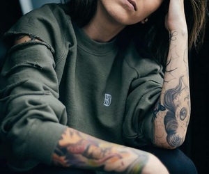 girl, tattoo, and tomboy image
