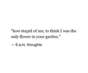 quotes, flowers, and stupid image