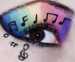 music, eyes, and eye image