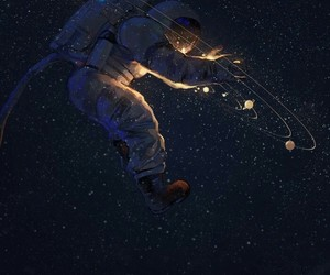 space, art, and astronaut image