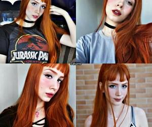 hair, bangs, and girl image