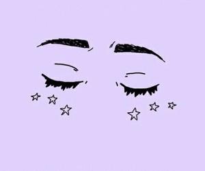 wallpaper, purple, and stars image