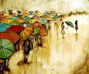 aesthetic, art, and umbrellas image