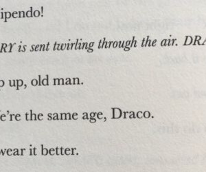 book, draco malfoy, and harry potter image