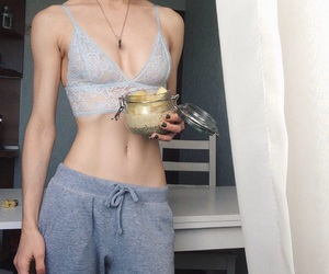 ana, anorexic, and brassiere image