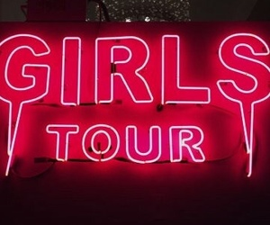 girls, neon, and pink image