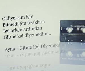 müzik, ayna, and türkçe sözler image