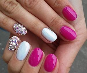 manicure, diamond, and nails image