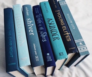 book, blue, and read image