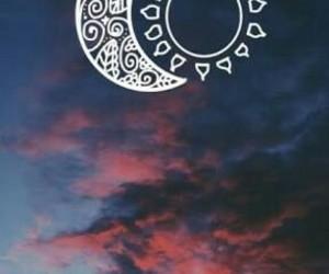 teen wolf, moon, and sun image