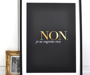 french, black, and gold image