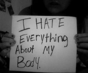 body, sad, and fat image