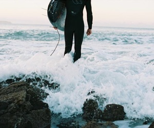 shore, surfer, and tumblr image