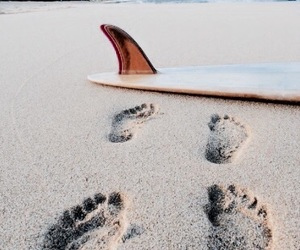 beach, footsteps, and photography image
