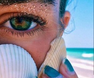 beach, summer, and eyes image