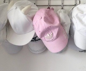 pink, cap, and adidas image