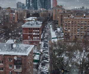 moscow, snow, and city image