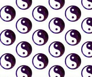 wallpaper, background, and ying yang image