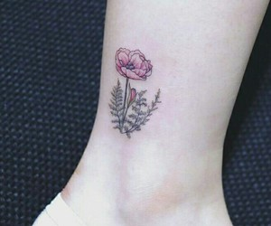 flower, small, and tattoo image