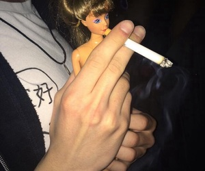 barbie, smoke, and grunge image