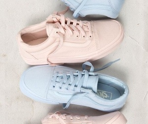 vans, blue, and pink image