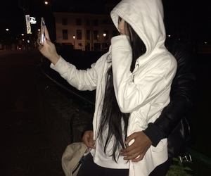 couple, night, and tumblr image