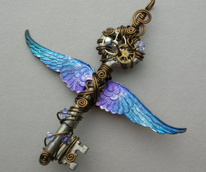 Angel Wings, blue, and purple image
