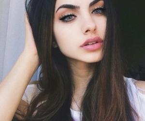 girl, makeup, and hair image
