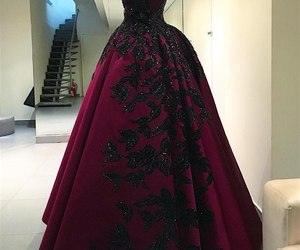 dress, black, and red image