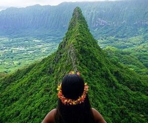 green, girl, and hawaii image