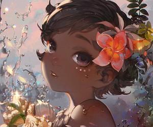 moana, disney, and art image