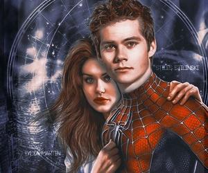 spider man, stydia, and spiderman image
