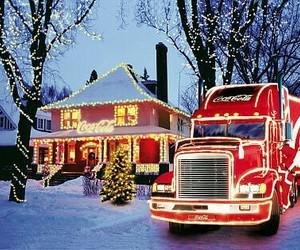 christmas, coca cola, and snow image