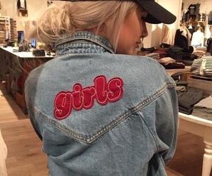 girl, fashion, and jacket image