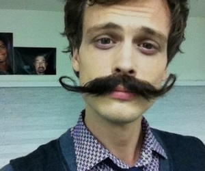 matthew gray gubler, criminal minds, and mustache image