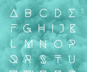 alphabet, typographie, and letters image