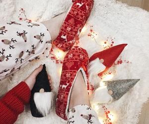 christmas, holiday, and reindeer image