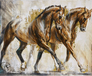 beautiful, chevaux, and drawing image